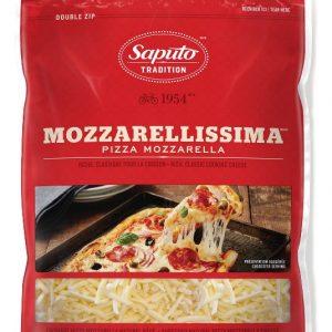 Fromage mozzarellissima râpé pour pizza Saputo 1kg