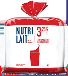 Lait Nutrilait 3,25% 4L