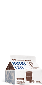 Lait Nutrilait au chocolat 1% 200mL