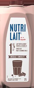 Lait Nutrilait au chocolat 1% 2L