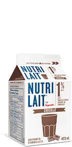 Lait Nutrilait au chocolat 1% 473mL