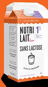 Lait Nutrilait sans lactose 1% 2L