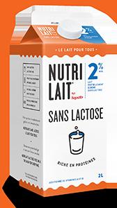 Lait Nutrilait sans lactose 2% 2L