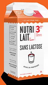 Lait Nutrilait sans lactose 3,25% 2L